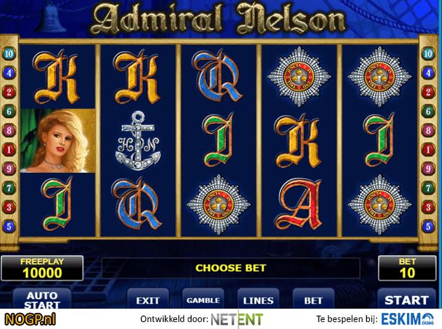 Gokken op Admiral Nelson videoslot