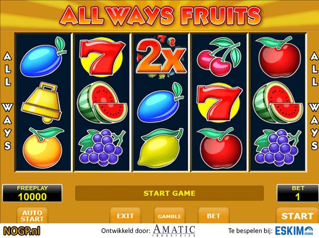 Gokken op Allways Fruits Gokkast