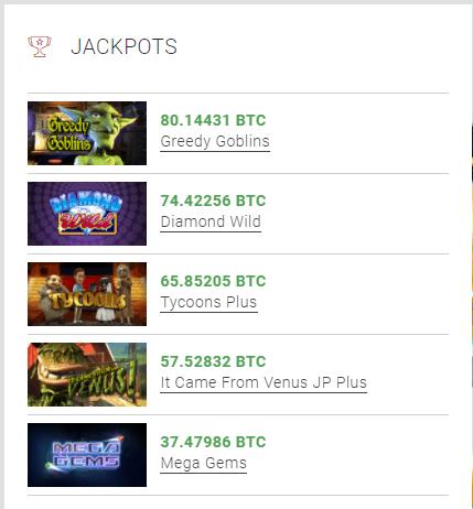 Jackpot bij Willekeurige Bitcoin Casino