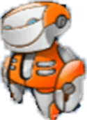 Alien Robots gokkast Orange Bot Symbool