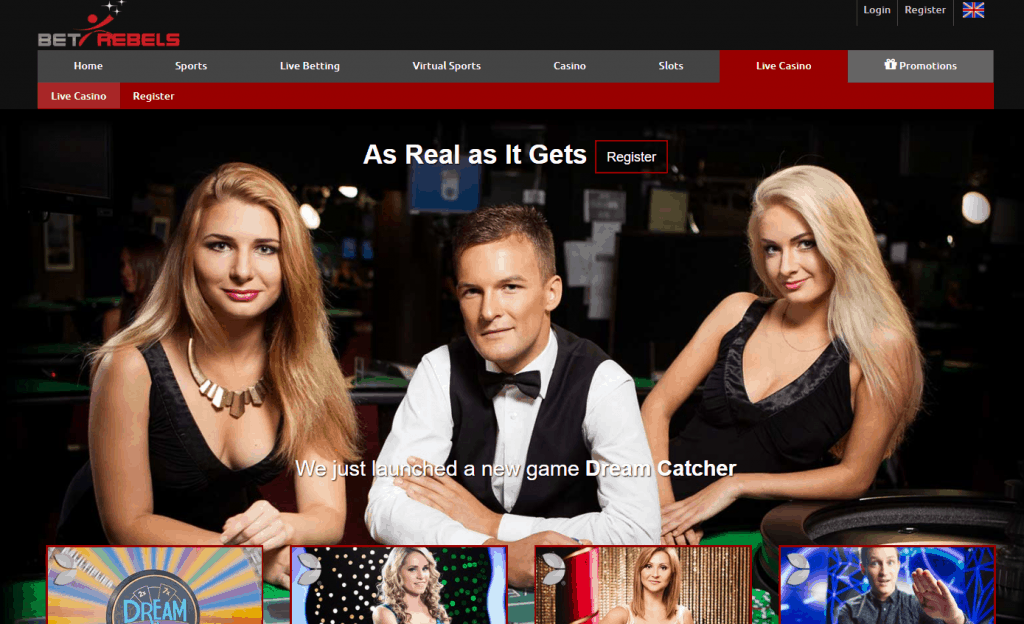 BetRebels live casino