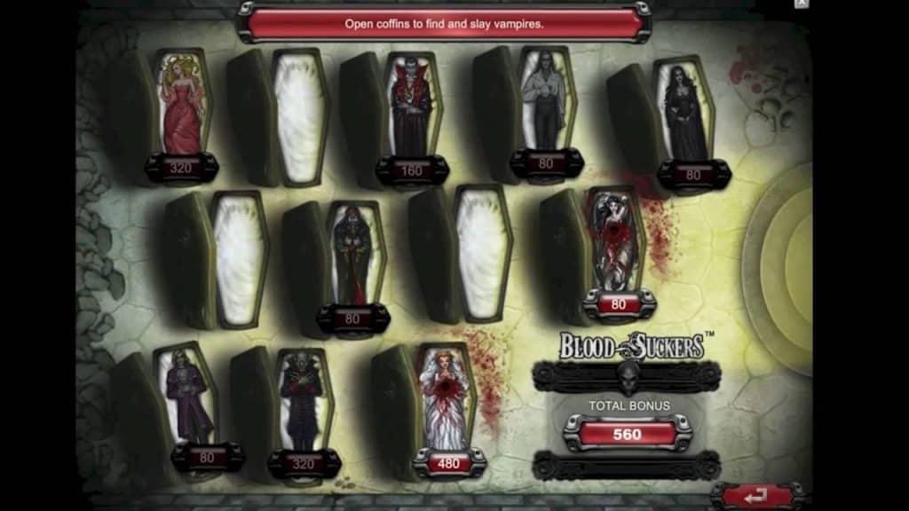 Bloodsuckers videoslot bonusspel