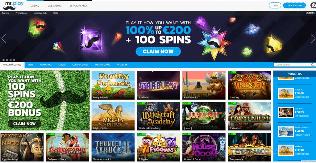 Mr. Play Casino screenshot