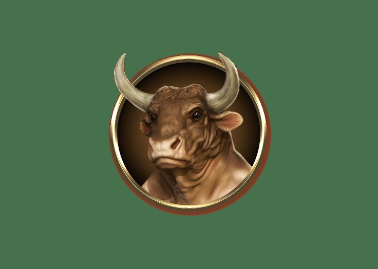 Divine Fortune video slot gokkast - Stier symbool