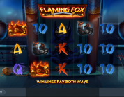 Flaming Fox video slot gokkast
