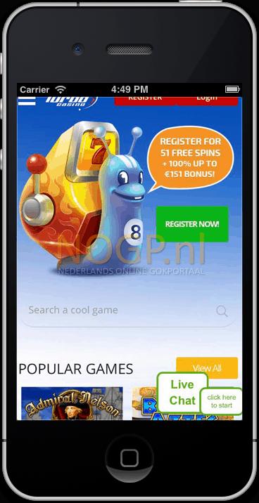 Turbo Casino op mobiel