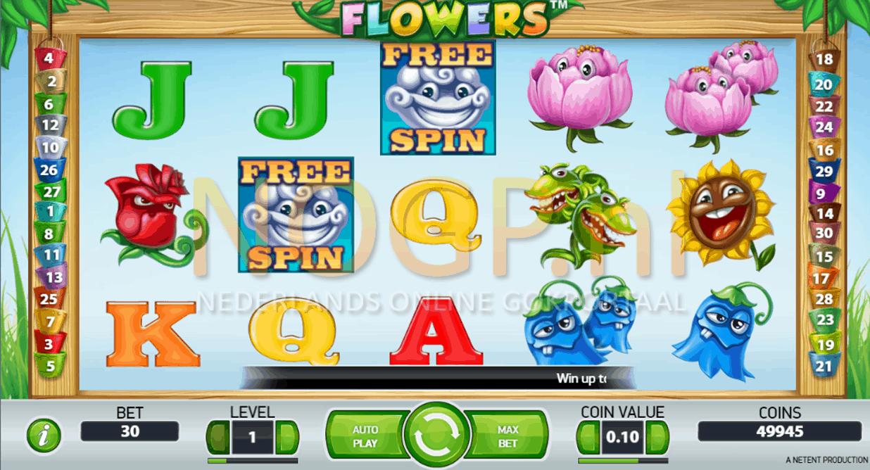 Flowers video slot gokkast screenshot