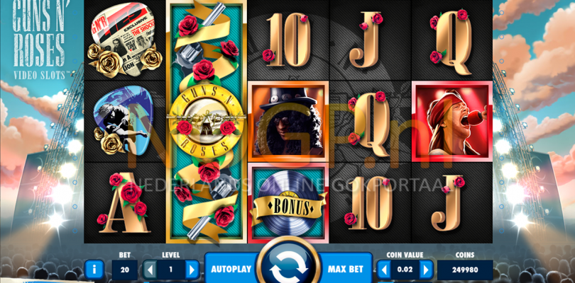 Guns N' Roses video slot gokkast