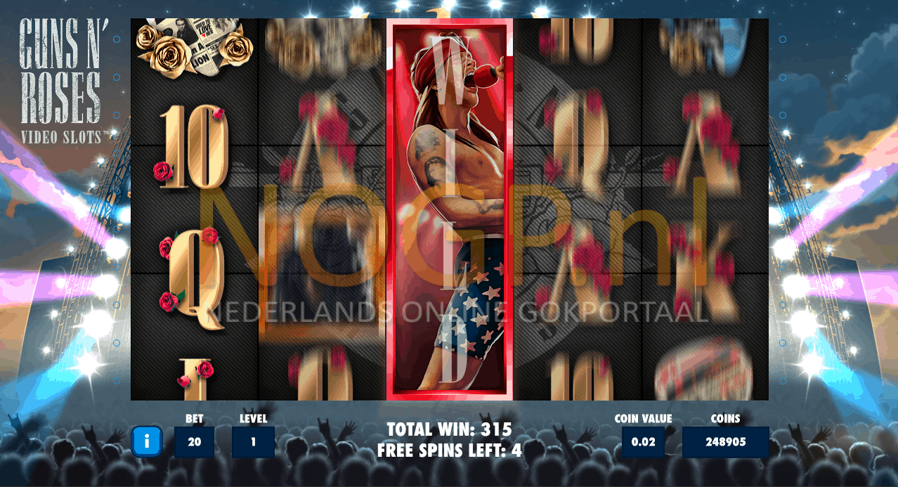 Guns N'Roses video slot Encore free spins