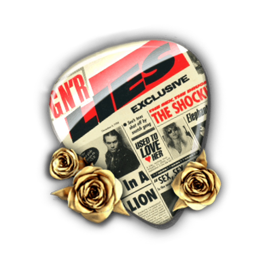 Guns N'Roses video slot - Plectrum 1 symbool