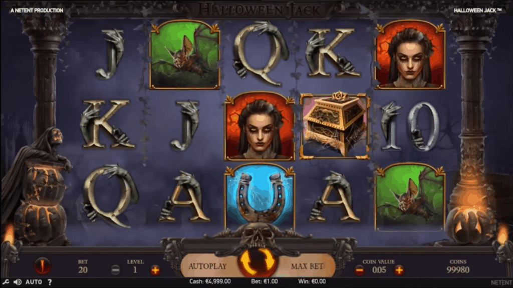 NetEnt's Halloween Jack video slot screenshot