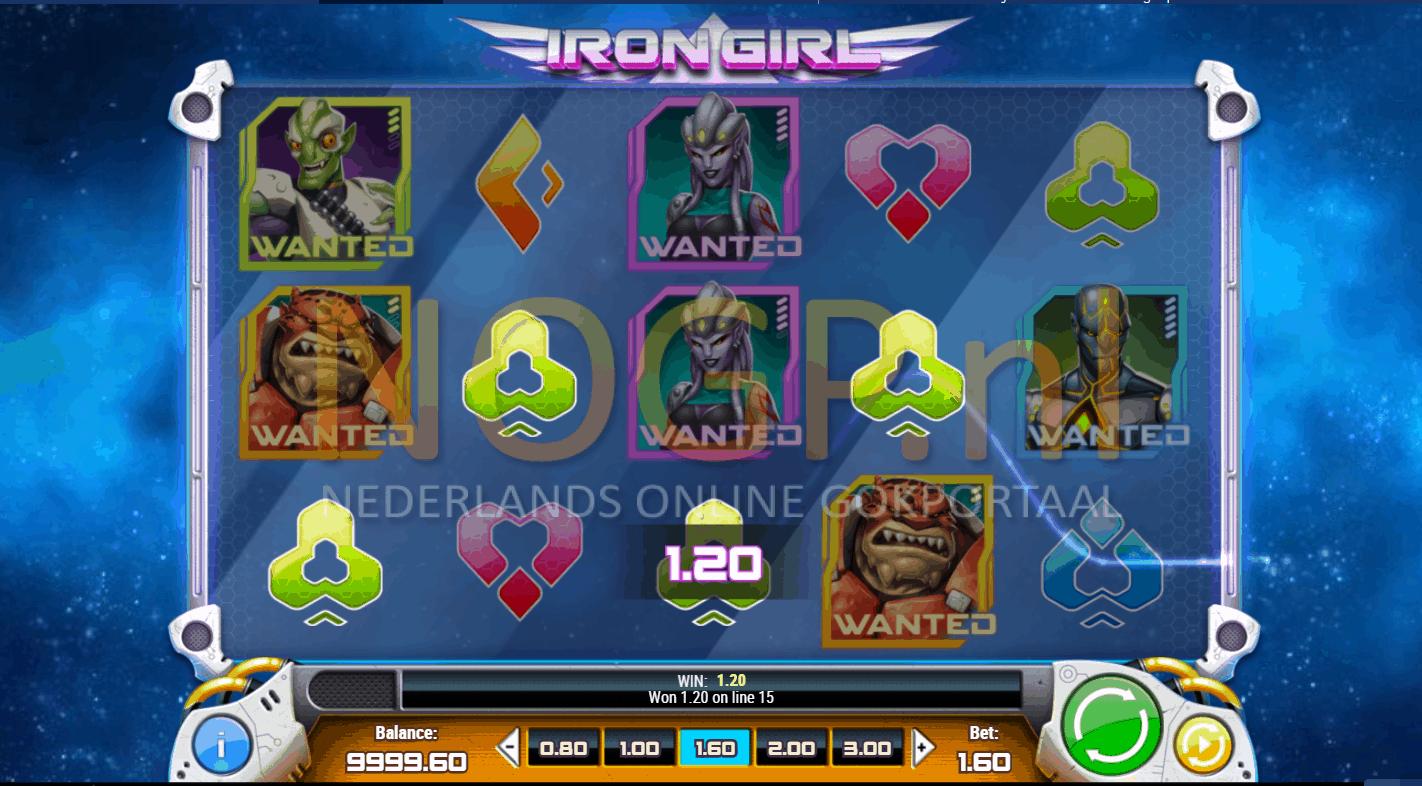 Iron Girl video slot screenshot