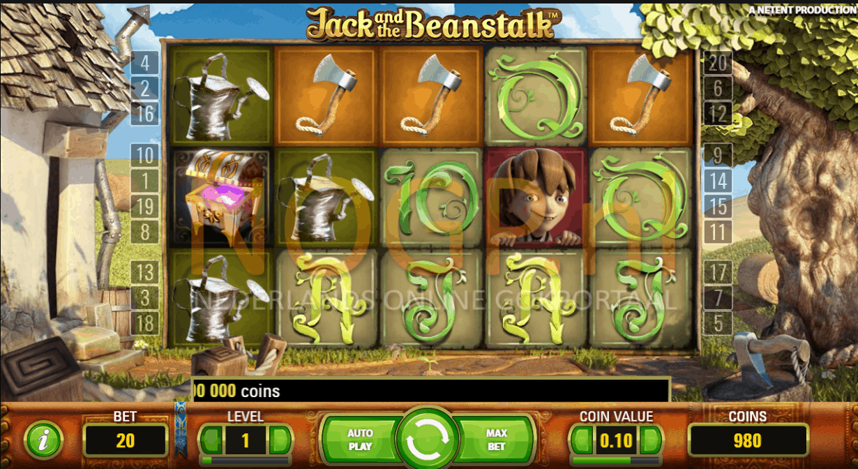 Jack and the Beanstalk gokkast screenshot
