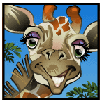 Mega Moolah video slot gokkast - Giraffe symbool