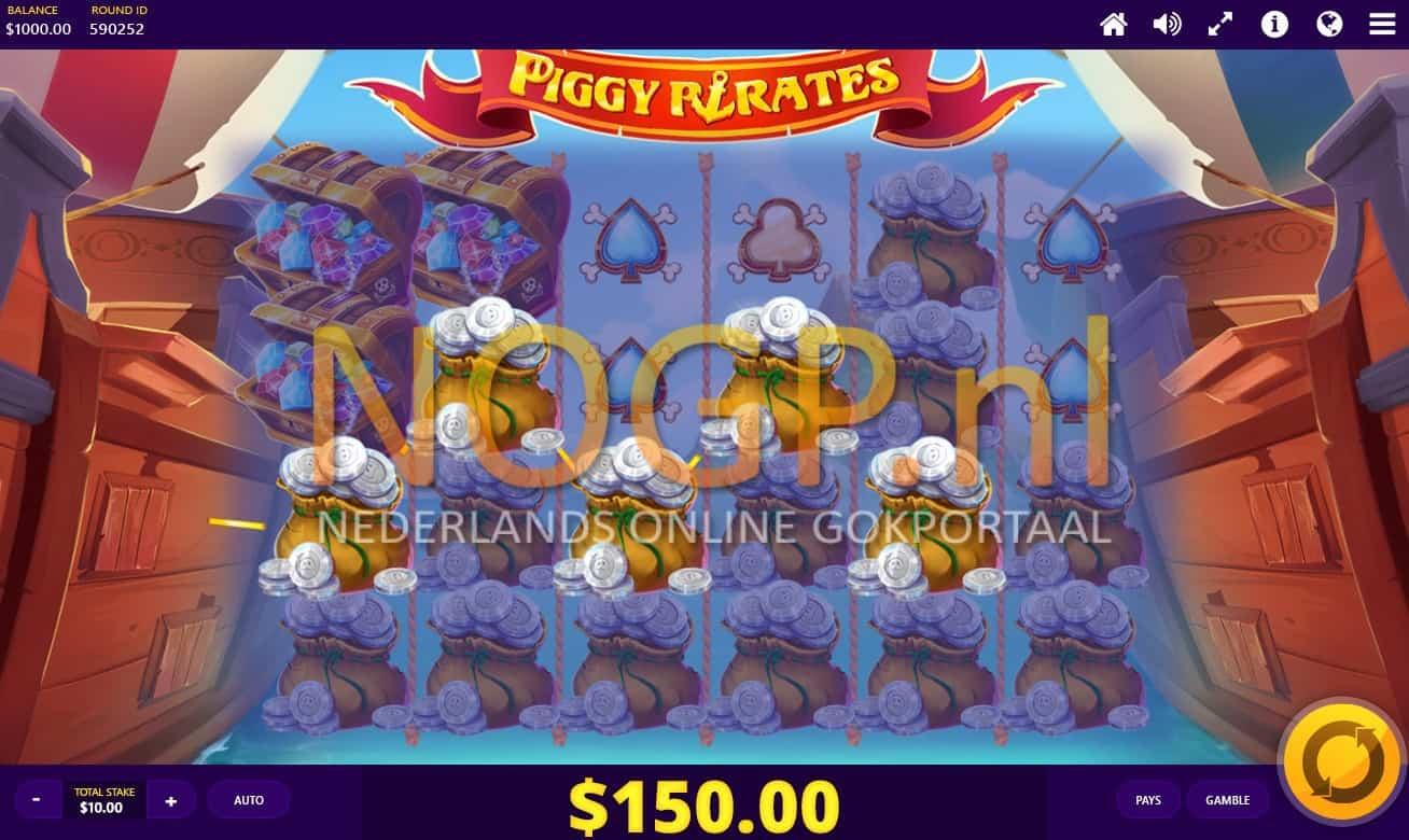 Piggy Pirates video slot screenshot