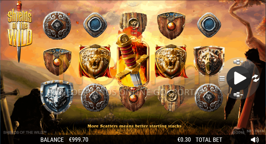 NextGen Gaming shields of the wild slot