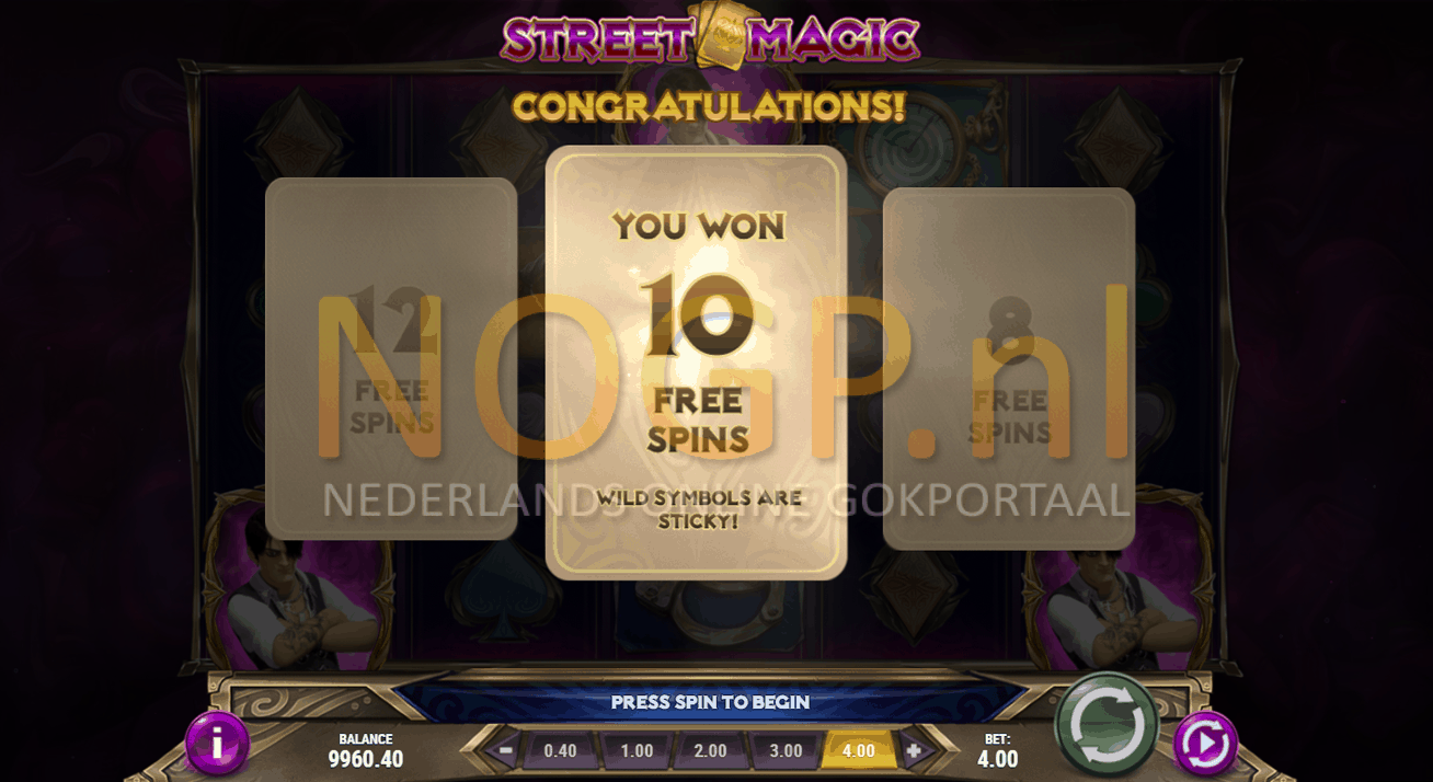 Street Magic gokkast gratis spins feature