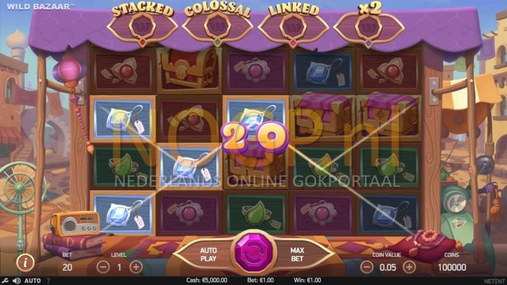 Wild Bazaar gokkast screenshot