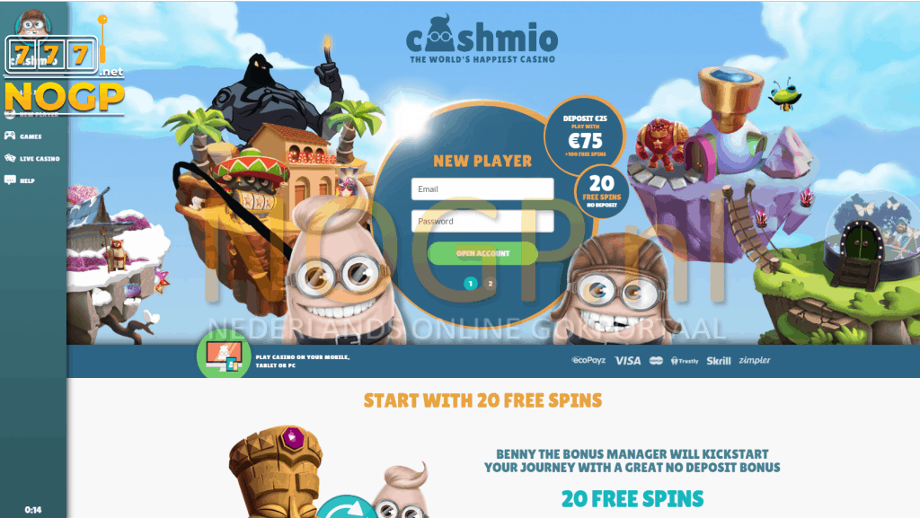Cashmio Casino screenshot desktop