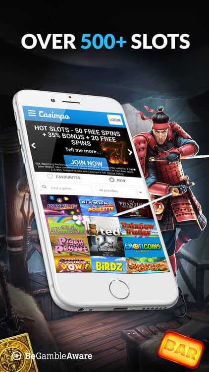 Casimpo Casino op mobiel