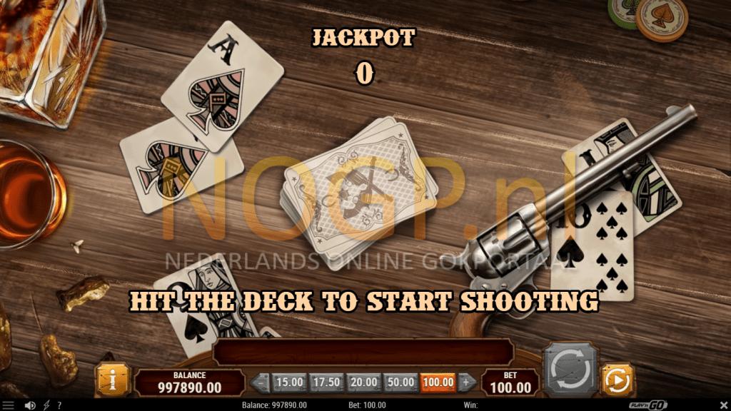 Gunslinger: Reloaded gokkast van Play'n GO - Shoot the Cards feature