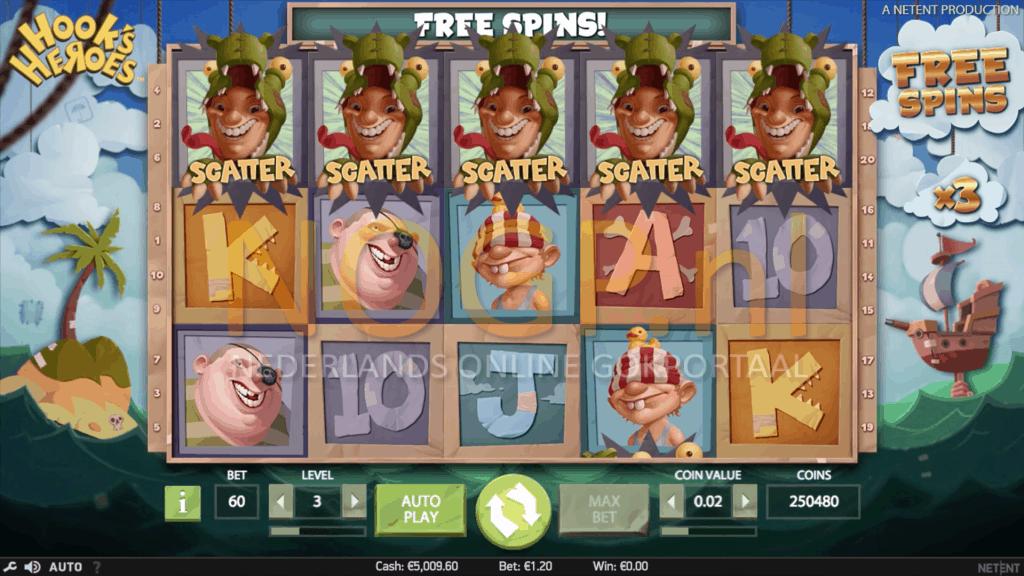 Hooks Heroes slot gratis spins