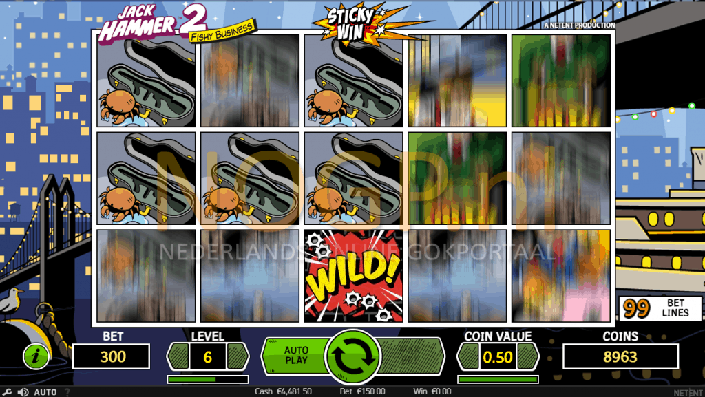 Jack Hammer 2 video slot Sticky win feature