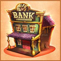 The Wild 3 video slot gokkast - Bank symbool