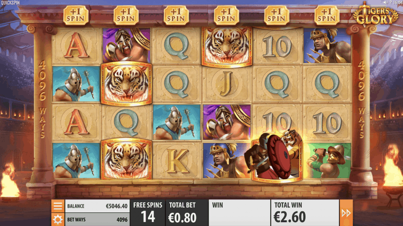 TIgers Glory video slot screenshot