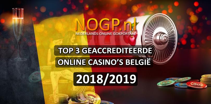 Top drie beste online casino's Belgie