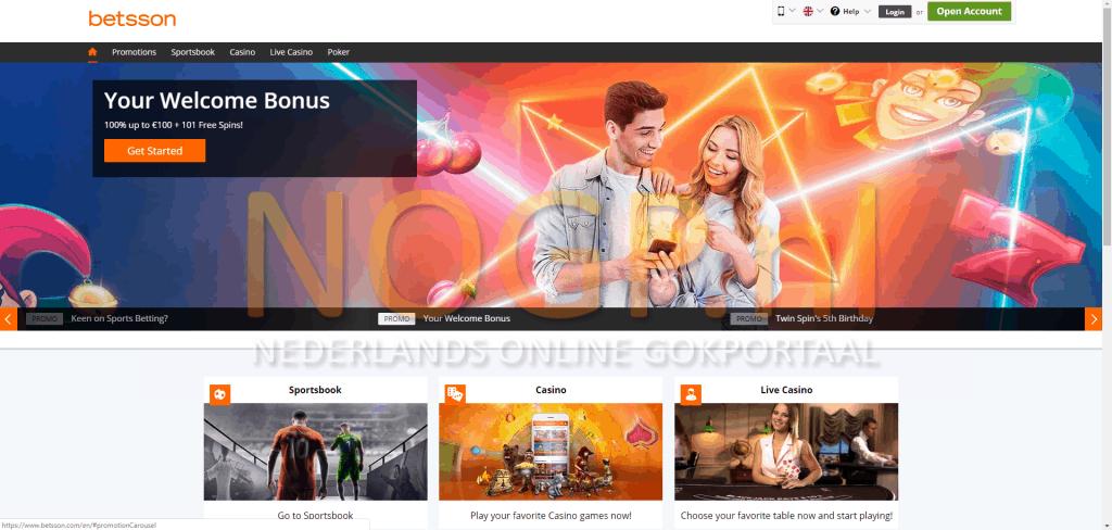 Bestson Casino homepage