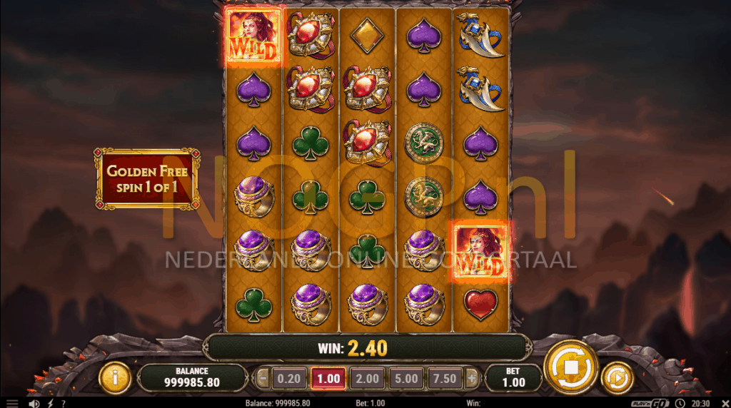 Dragon Maiden Golden Free Spins feature