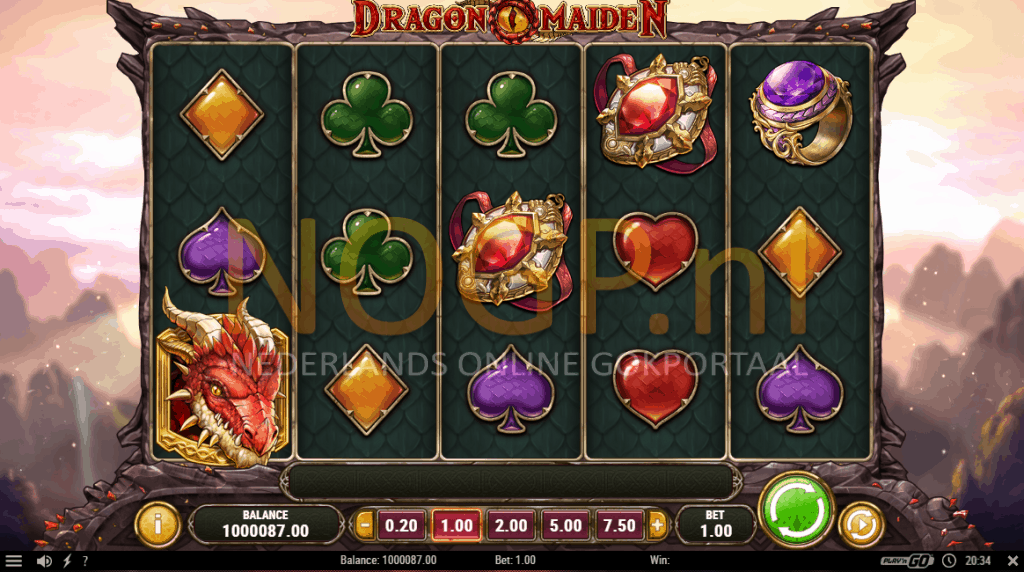 Dragon Maiden gokkast basisspel screenshot