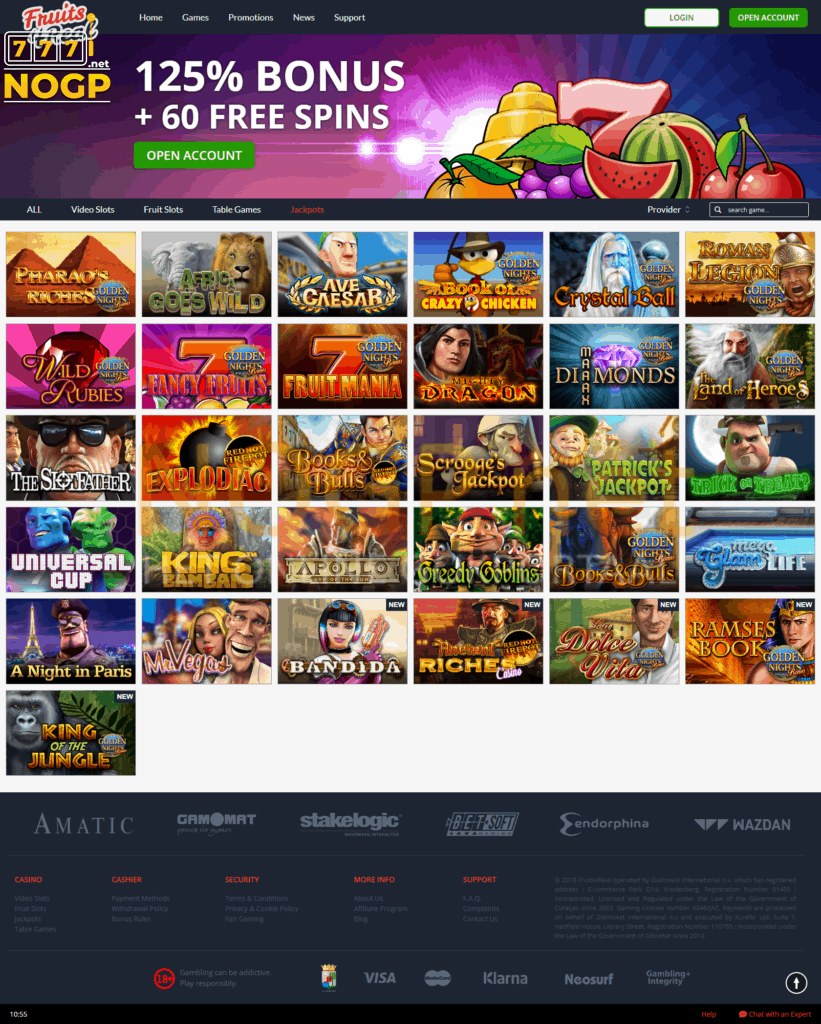 Fruits4Real Casino jackpot slots