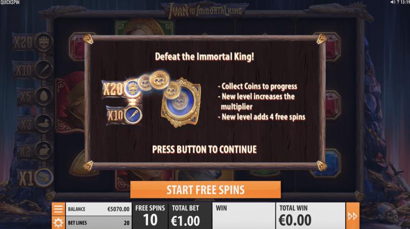 Scatter symbolen gratis spins Ivan and the Immortal King