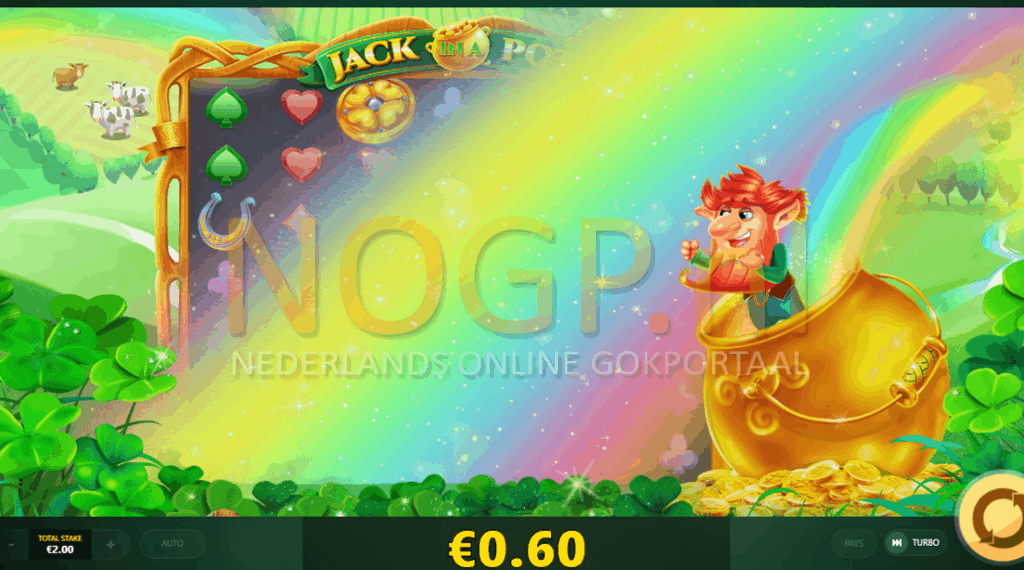 Jack in a Pot slot rainbow feature