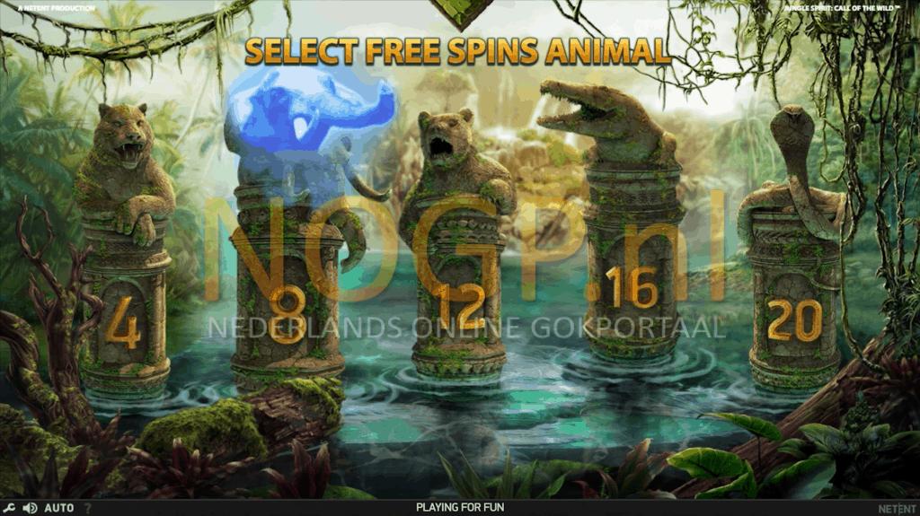 Jungle spirit gratis spins feature