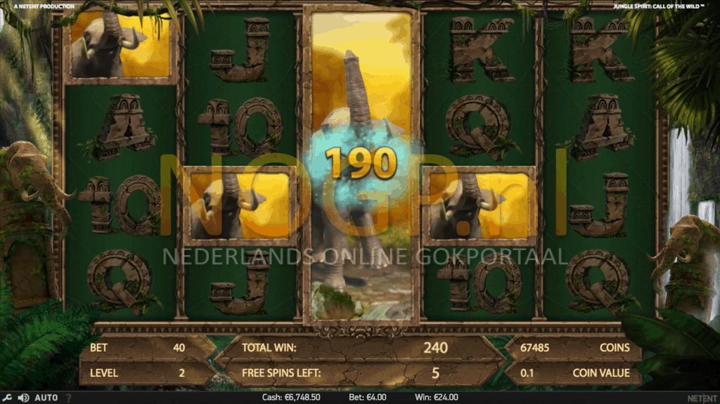Jungle Spirit slot symbool Expansion feature