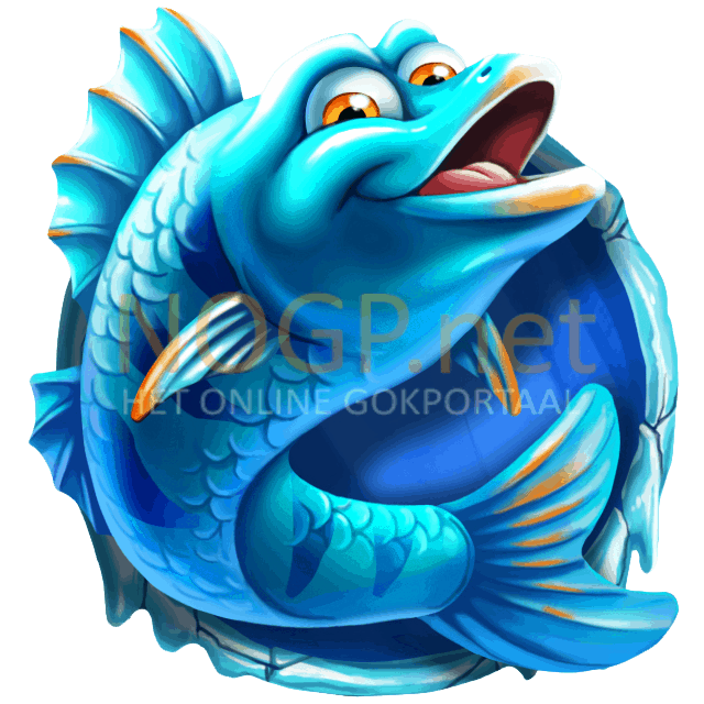 Lucky Angler video slot gokkast - Blauwe vis symbool