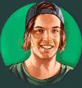 Nitro Circus video slot gokkast - Groene stuntman symbool
