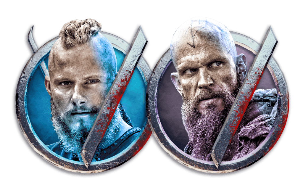 Vikings video slot gokkast - Bjorn & Floki symbool