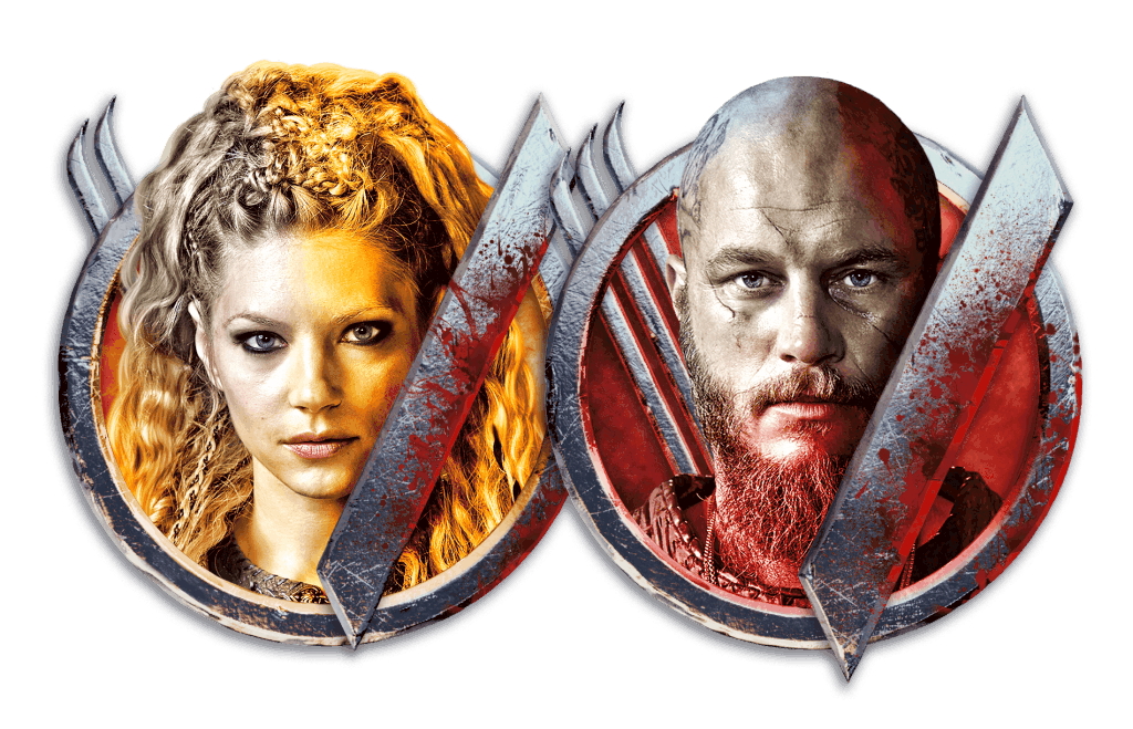 VIkings video slot gokkast - Ragnar & Lageretha symbool