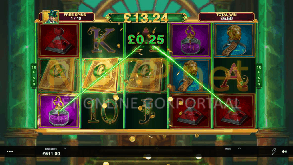 Book of Oz gratis spin feature