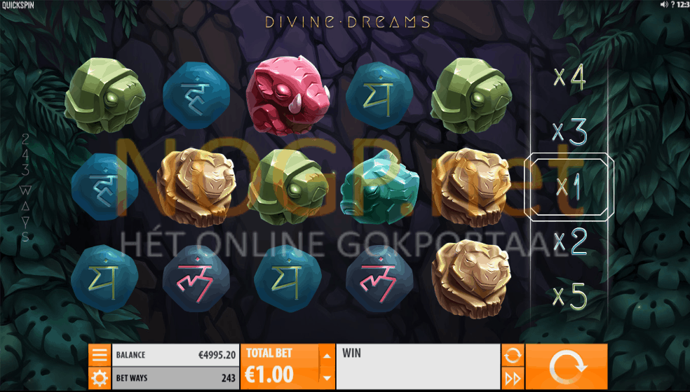 Divine Dreams slot quickspin screenshot