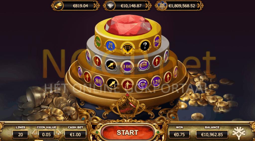 Empire Fortune video slot jackpot wheel