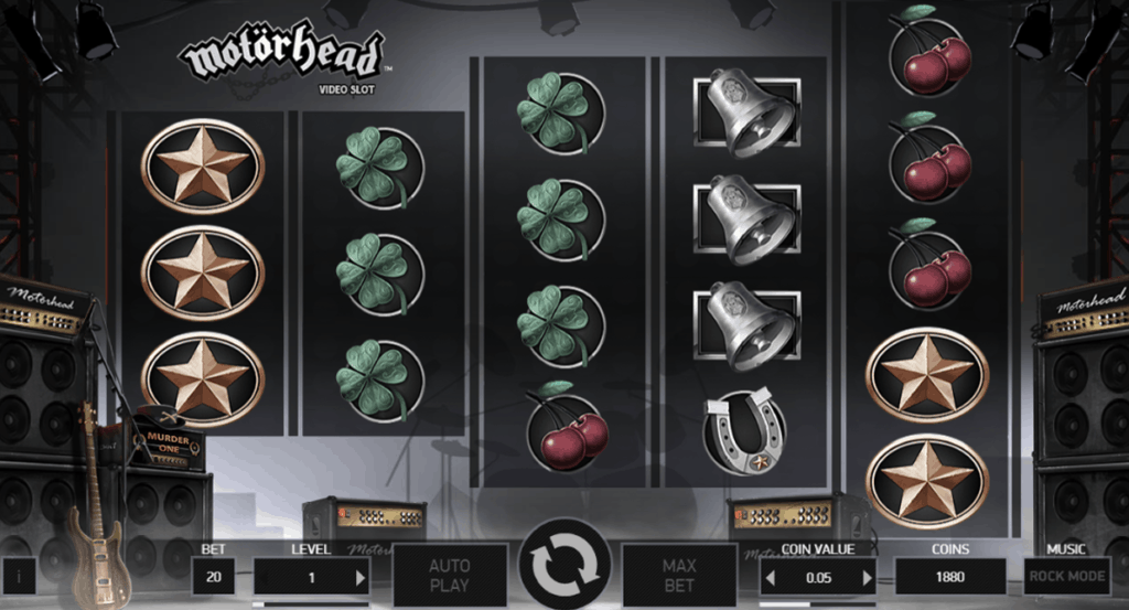 Motörhead video slot screenshot
