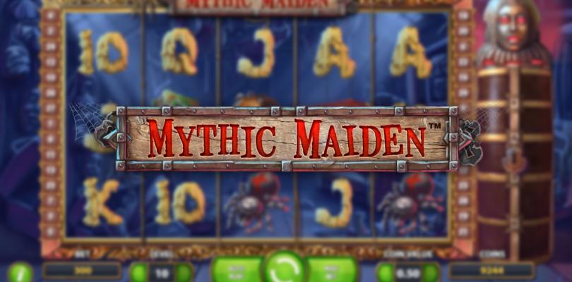 Mythic Maiden video slot logo