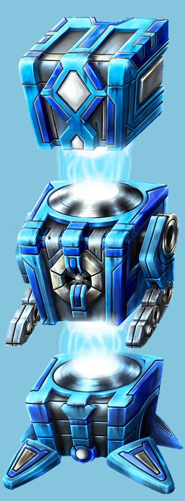 Wild-O-Tron 3000 video slot gokkast - Blauwe robot symbool