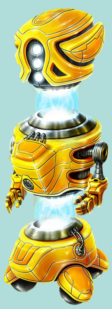 Wild-O-Tron 3000 video slot gokkast - Gele robot symbool