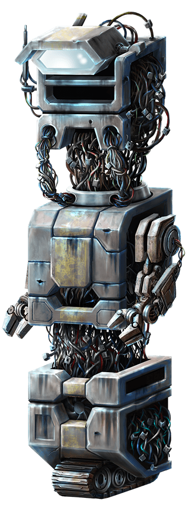 Wild-O-Tron 3000 video slot gokkast - Grijze robot symbool